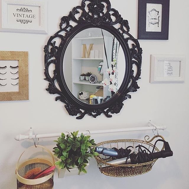 Love How Cmoimawie Decorated Her Vanity Space Using This Bhglivebetter Baroque Mirror From Walmart Found In Store And Online For Just Under 25