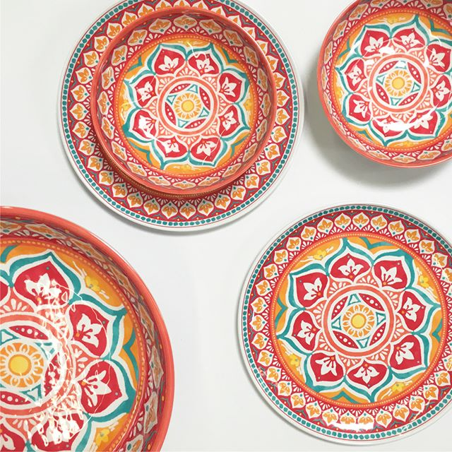 This melamine tableware is perfect for outdoor entertaining! I\u0027m loving this gorgeous print and it even looks like real ceramic! It\u0027s BPA-free and would be ...  sc 1 st  Walmart Finds : melamine plates walmart - pezcame.com