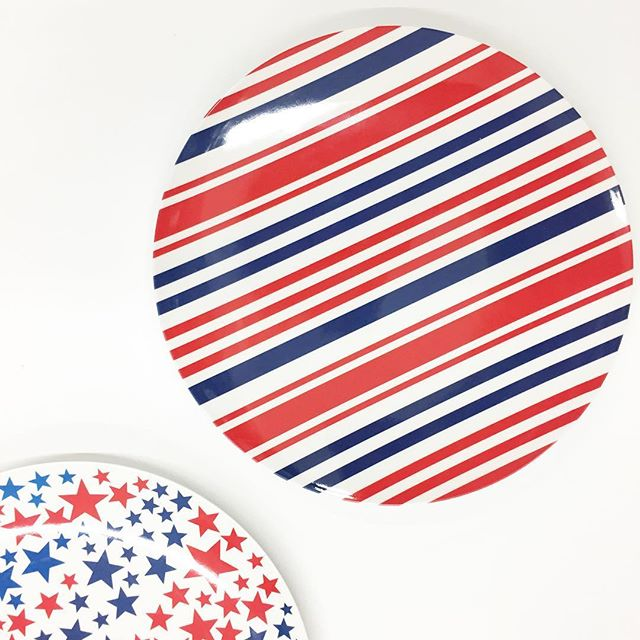 Sharing a little red white and blue on this first day of summer! Mainstays melamine dinnerware perfect for the 4th found in-store for $1.48 each!  sc 1 st  Walmart Finds & Mainstays Melamine Stars and Stripes Plates | Walmart Finds