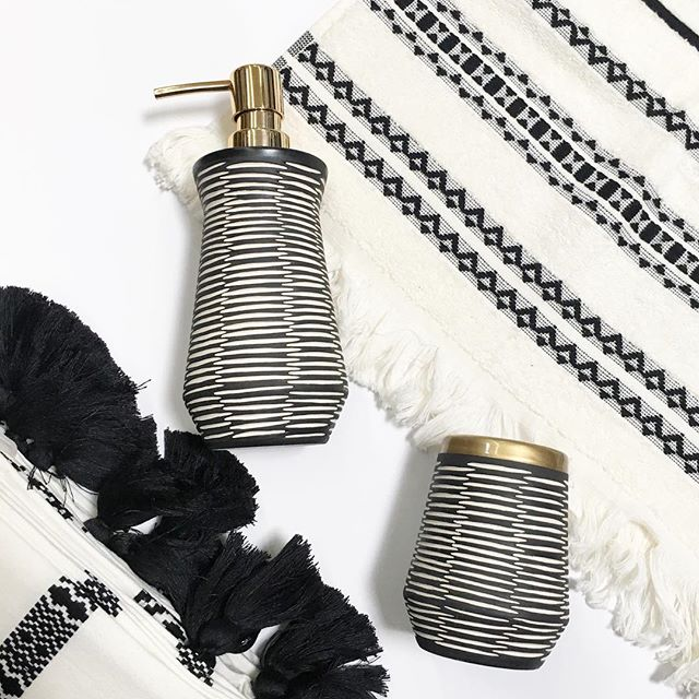 I Was So Excited To Find These Tribal Chic Bathroom Accessories! Iu0027ll Take  One Of Each Please! Found In Store And Online. Head Below For Direct Links  To ...