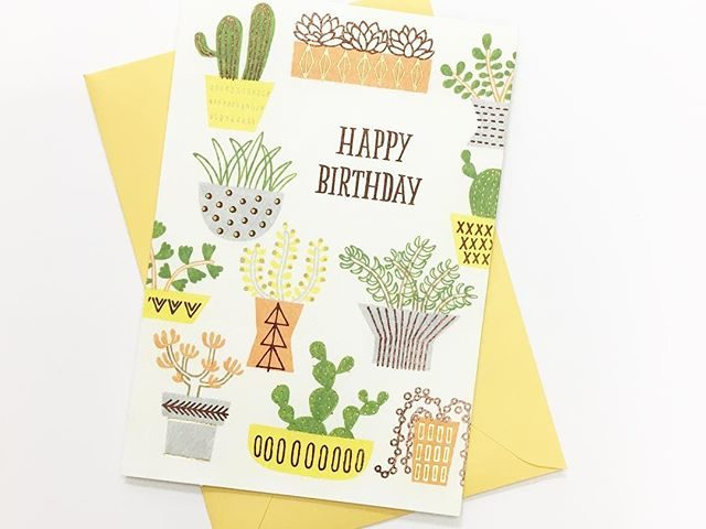 "5f5dddc06f1c7c Hallmark ""Happy Birthday"" Cactus Card"